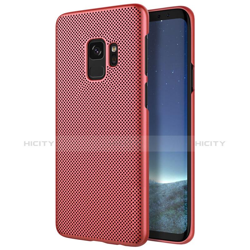 Schutzhülle Kunststoff Hülle Punkte Loch für Samsung Galaxy S9 Rot Plus