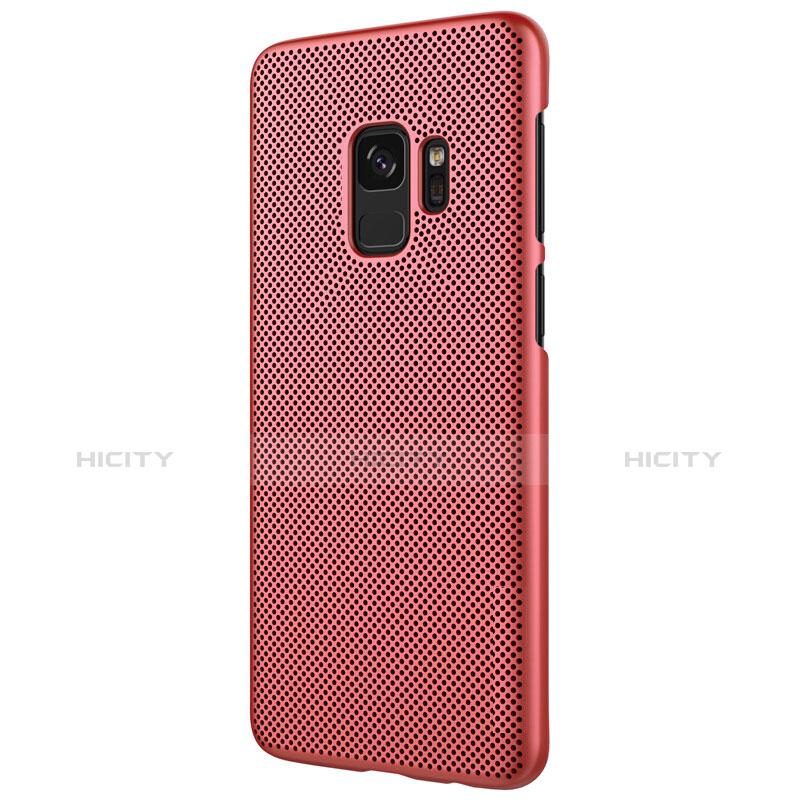 Schutzhülle Kunststoff Hülle Punkte Loch für Samsung Galaxy S9 Rot groß
