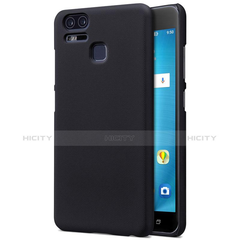 Schutzhülle Kunststoff Tasche Matt für Asus Zenfone 3 Zoom Schwarz Plus