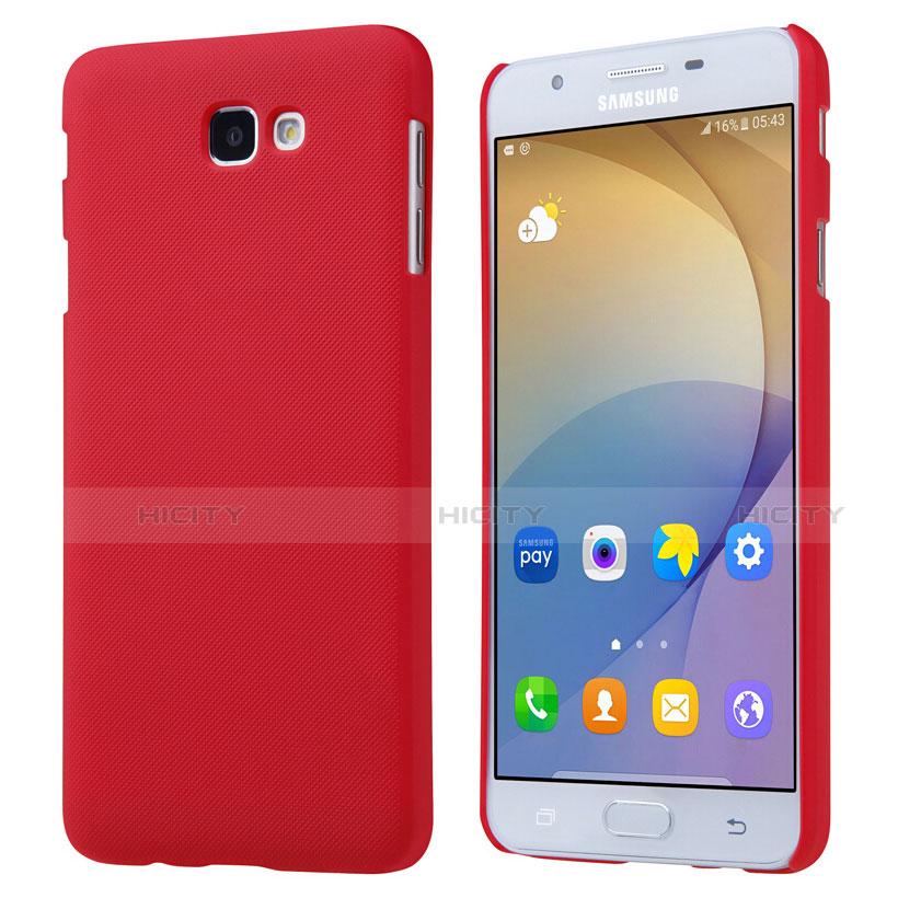 Schutzhülle Kunststoff Tasche Matt für Samsung Galaxy J7 Prime Rot Plus