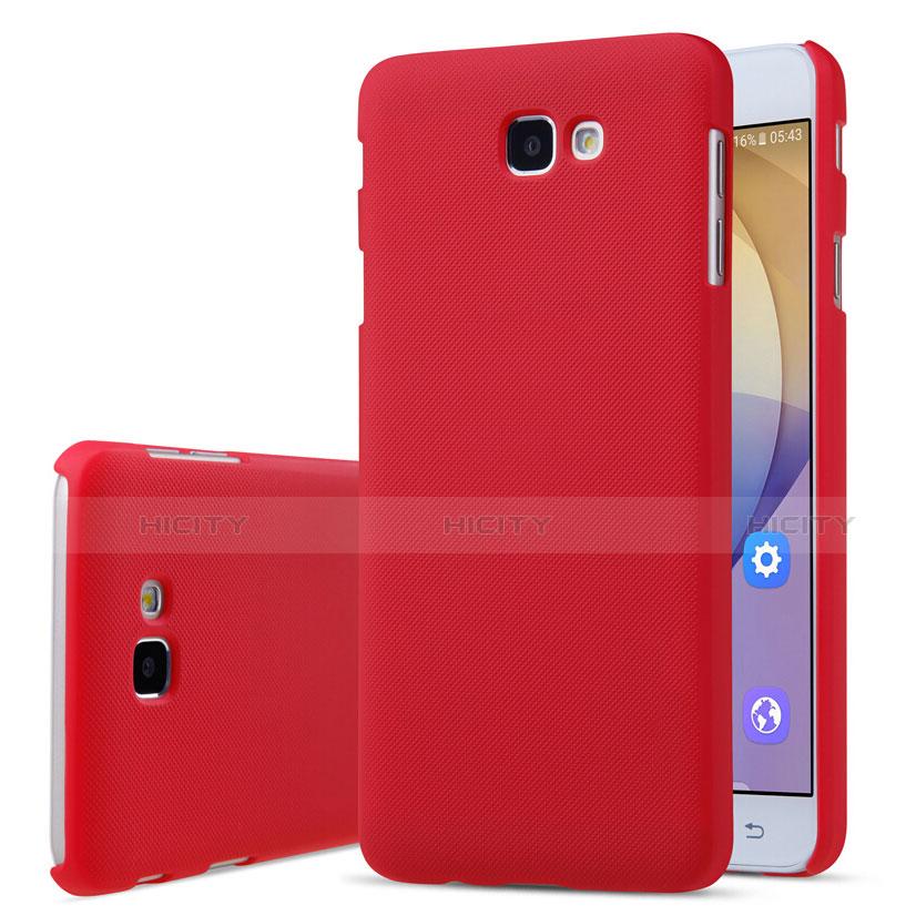 Schutzhülle Kunststoff Tasche Matt für Samsung Galaxy J7 Prime Rot groß