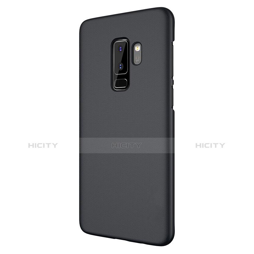 Schutzhülle Kunststoff Tasche Matt M02 für Samsung Galaxy S9 Plus Schwarz groß