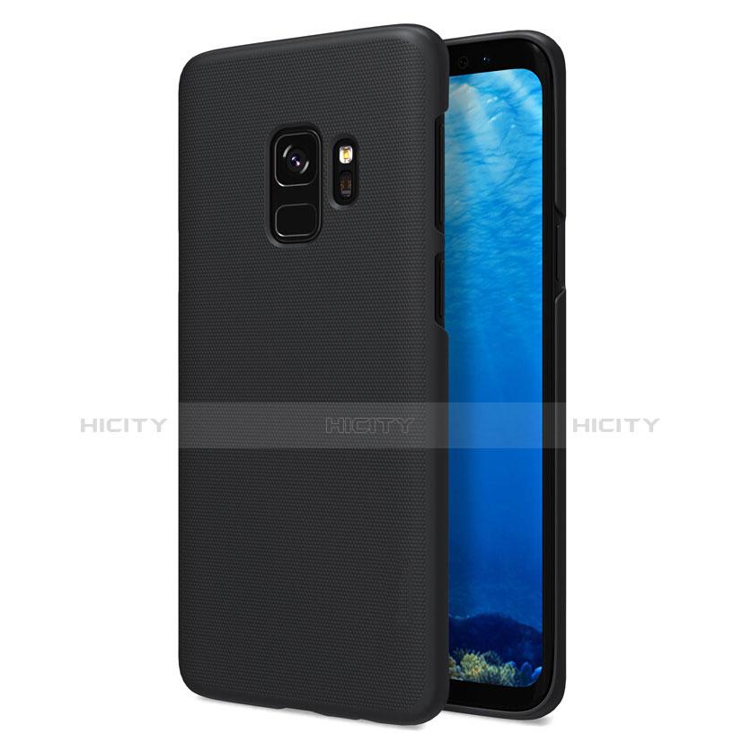 Schutzhülle Kunststoff Tasche Matt M09 für Samsung Galaxy S9 Schwarz Plus