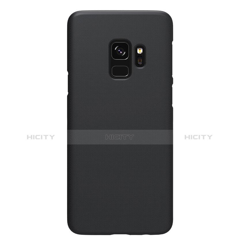 Schutzhülle Kunststoff Tasche Matt M09 für Samsung Galaxy S9 Schwarz groß