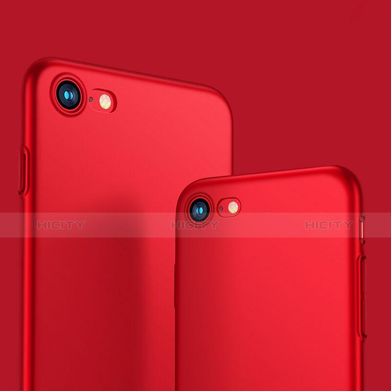 Schutzhülle Kunststoff Tasche Matt M10 für Apple iPhone 8 Rot Plus