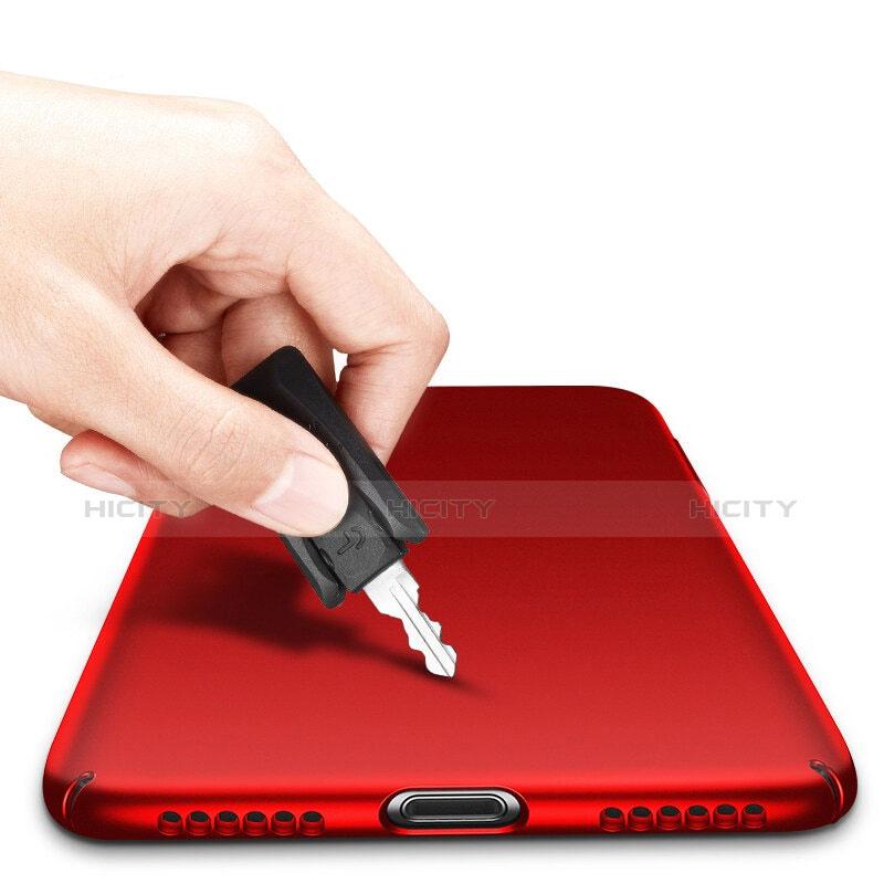 Schutzhülle Kunststoff Tasche Matt M10 für Apple iPhone 8 Rot groß