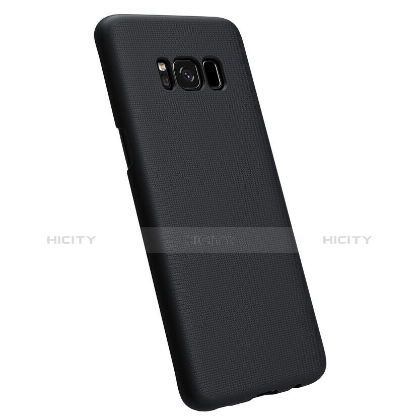 Schutzhülle Kunststoff Tasche Matt P01 für Samsung Galaxy S8 Plus Schwarz groß