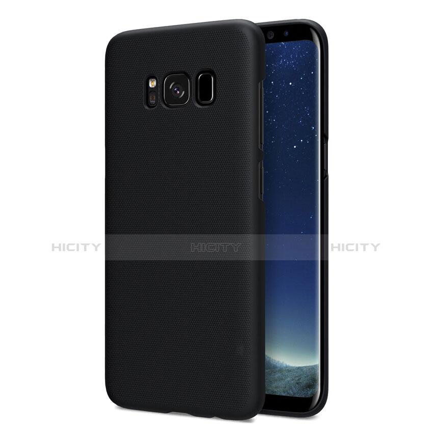 Schutzhülle Kunststoff Tasche Matt P01 für Samsung Galaxy S8 Schwarz Plus