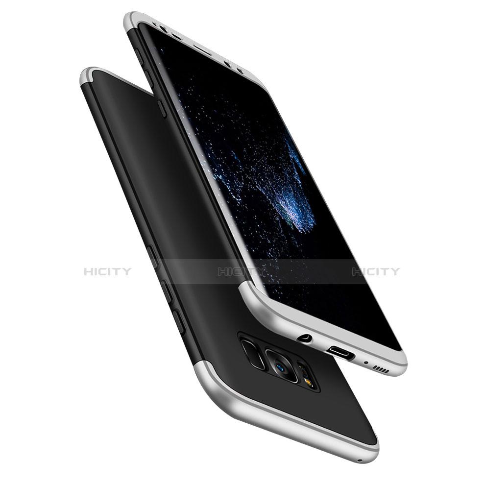 Schutzhülle Kunststoff Tasche Matt Vorder und Rückseite 360 Grad M03 für Samsung Galaxy S8 Plus Silber Plus
