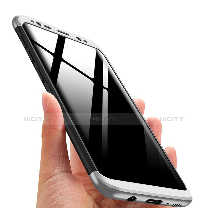 Schutzhülle Kunststoff Tasche Matt Vorder und Rückseite 360 Grad M03 für Samsung Galaxy S8 Plus Silber groß