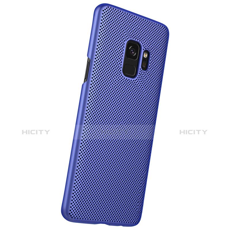 Schutzhülle Kunststoff Tasche Punkte Loch für Samsung Galaxy S9 Blau groß