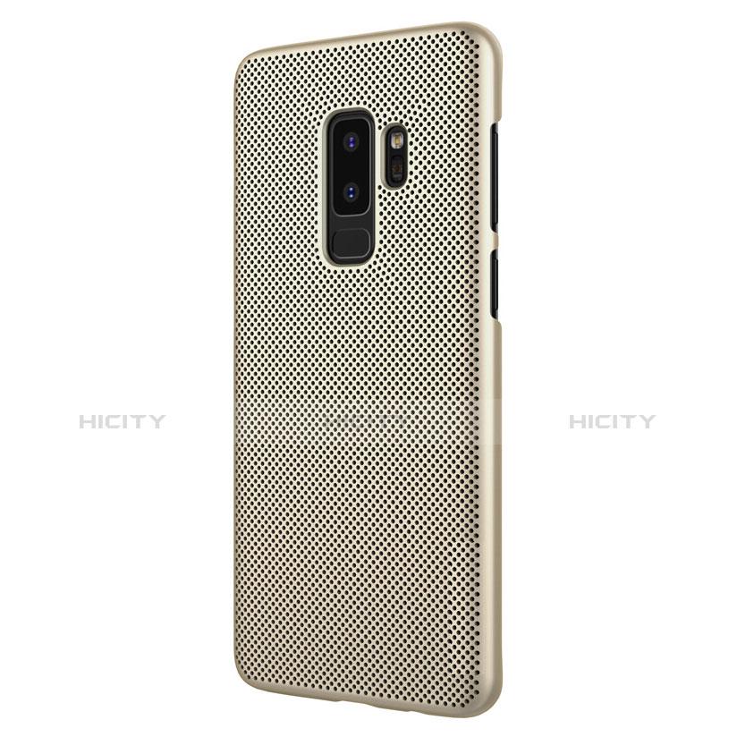 Schutzhülle Kunststoff Tasche Punkte Loch für Samsung Galaxy S9 Plus Gold groß