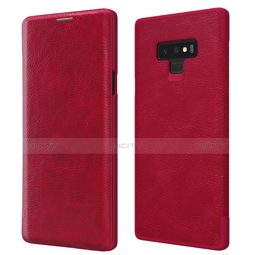 Schutzhülle Stand Tasche Leder für Samsung Galaxy Note 9 Rot Plus