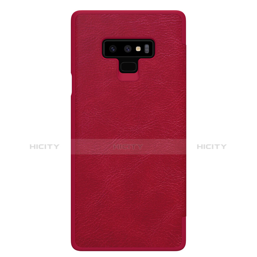 Schutzhülle Stand Tasche Leder für Samsung Galaxy Note 9 Rot groß