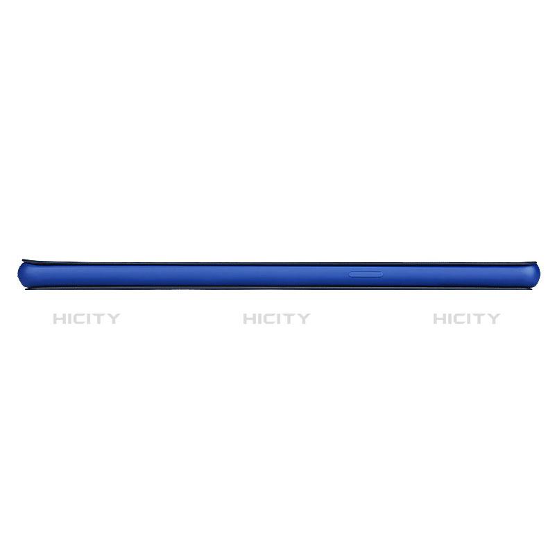 Schutzhülle Stand Tasche Leder L02 für Samsung Galaxy S8 Blau