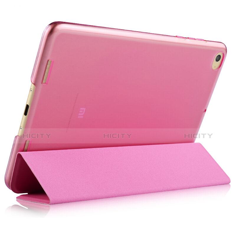 Schutzhülle Stand Tasche Leder L02 für Xiaomi Mi Pad 2 Rosa groß