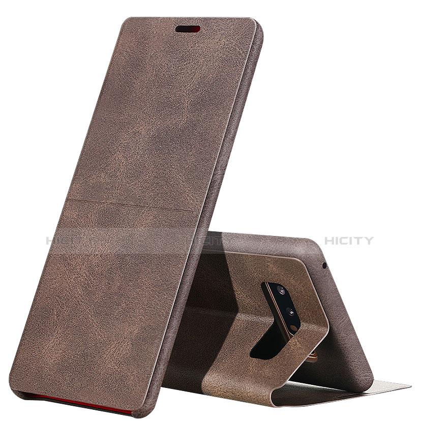 Schutzhülle Stand Tasche Leder L04 für Samsung Galaxy Note 8 Braun Plus