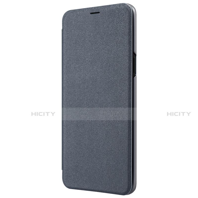 Schutzhülle Stand Tasche Leder S01 für Samsung Galaxy S9 Schwarz groß