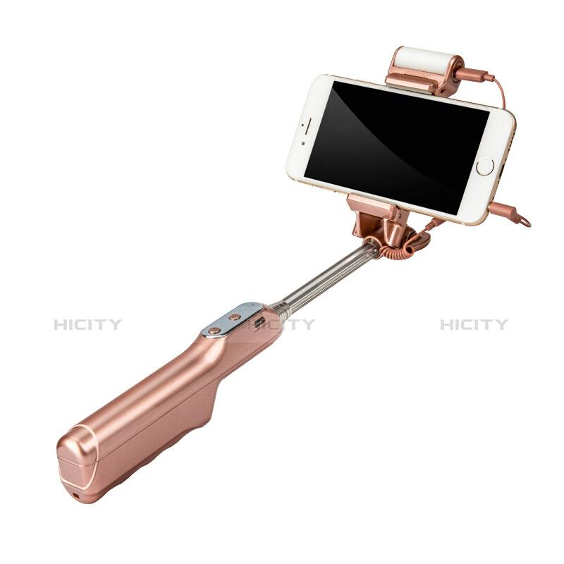Selfie Stick Stange Bluetooth Teleskop Universal S17 Gold groß