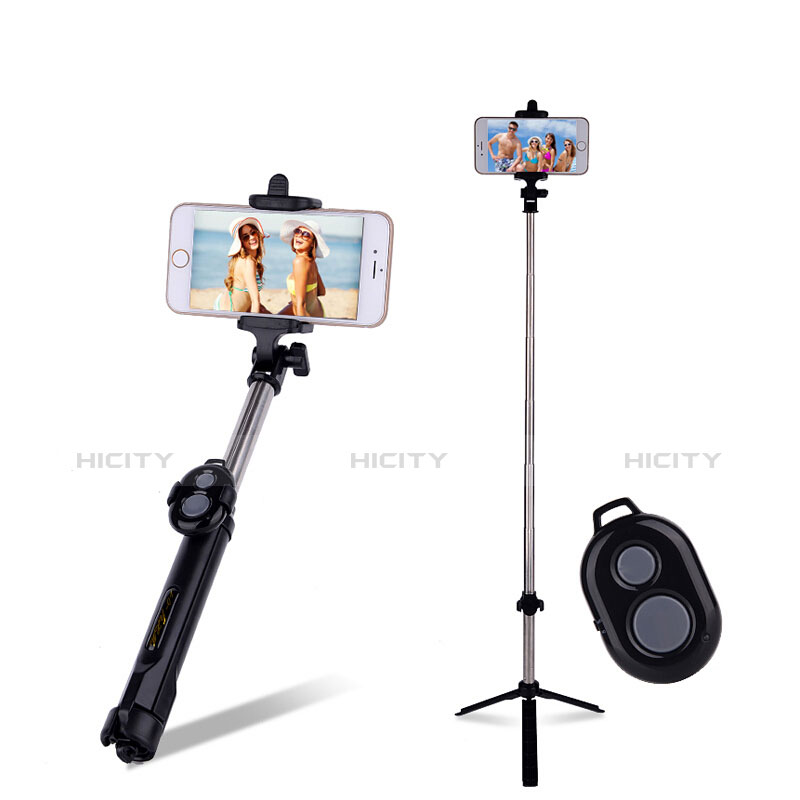Selfie Stick Stange Bluetooth Teleskop Universal S24 Schwarz Plus