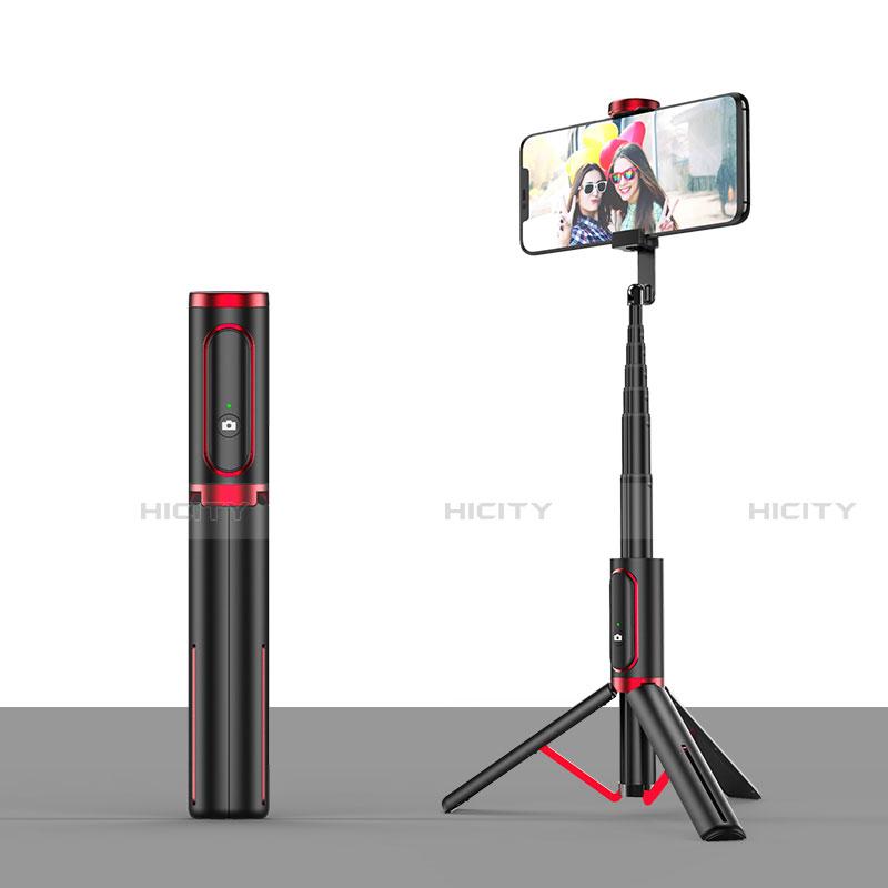 Selfie Stick Stange Stativ Bluetooth Teleskop Universal T26 Rot und Schwarz Plus