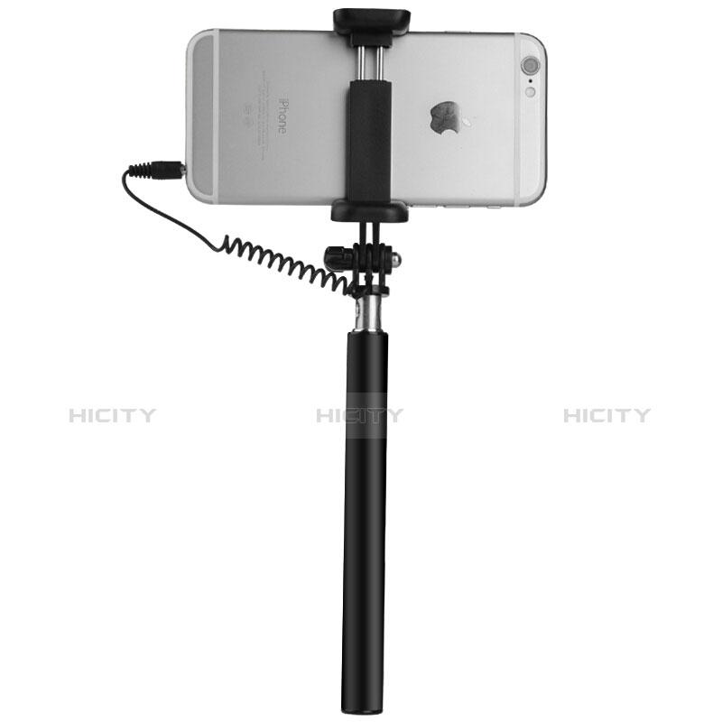 Selfie Stick Stange Verdrahtet Teleskop Universal S06 Schwarz groß