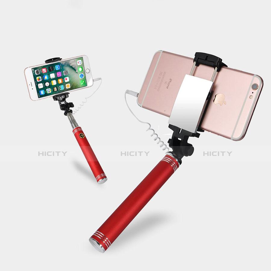 Selfie Stick Stange Verdrahtet Teleskop Universal S20 Rot Plus