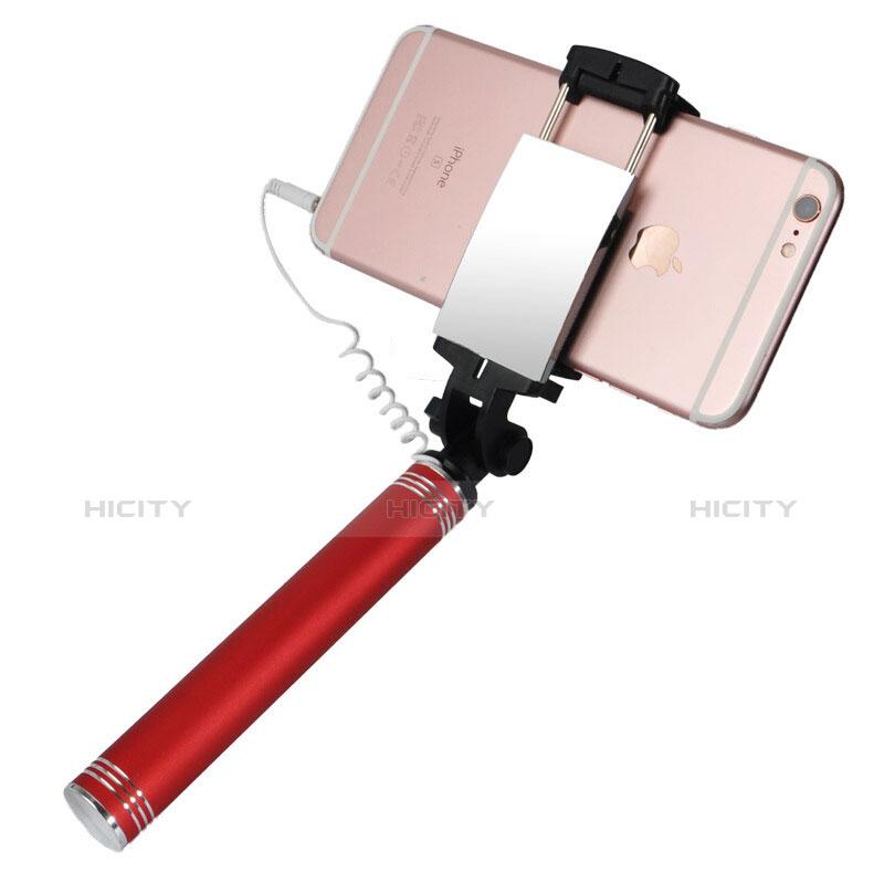 Selfie Stick Stange Verdrahtet Teleskop Universal S20 Rot groß