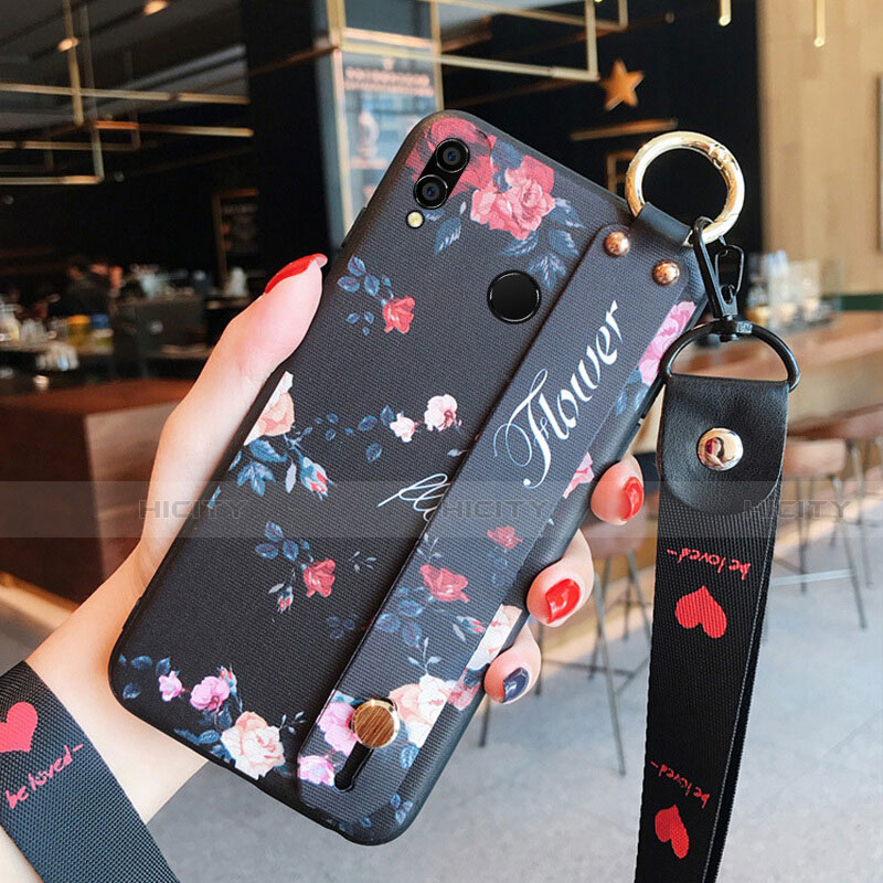 Silikon Hülle Gummi Schutzhülle Blumen für Huawei Honor 8X Plusfarbig Plus