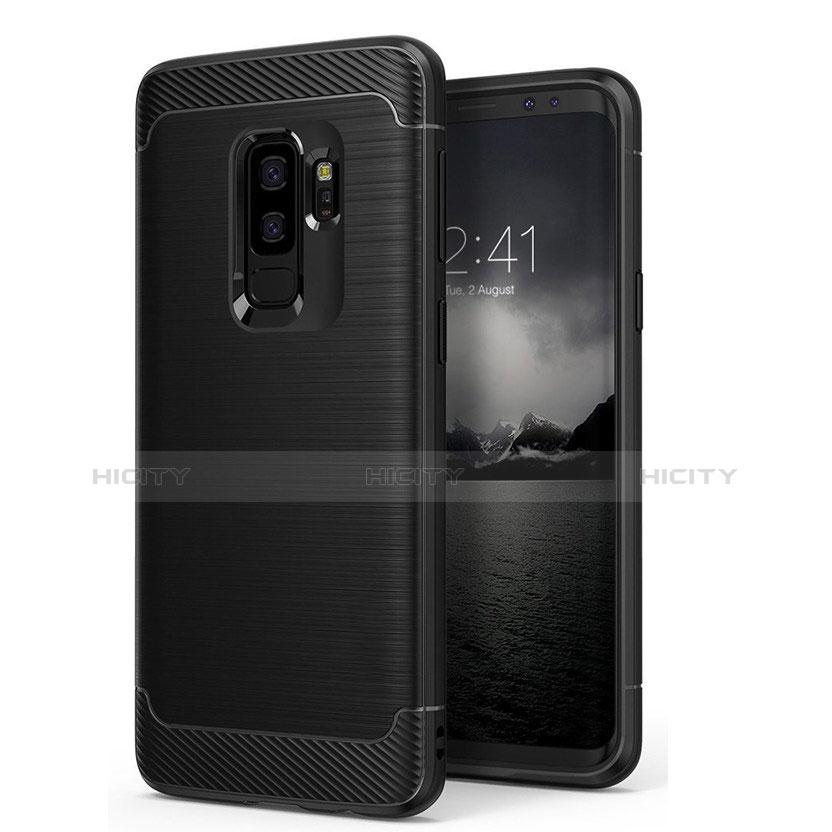 Silikon Hülle Gummi Schutzhülle Matt für Samsung Galaxy S9 Plus Schwarz Plus
