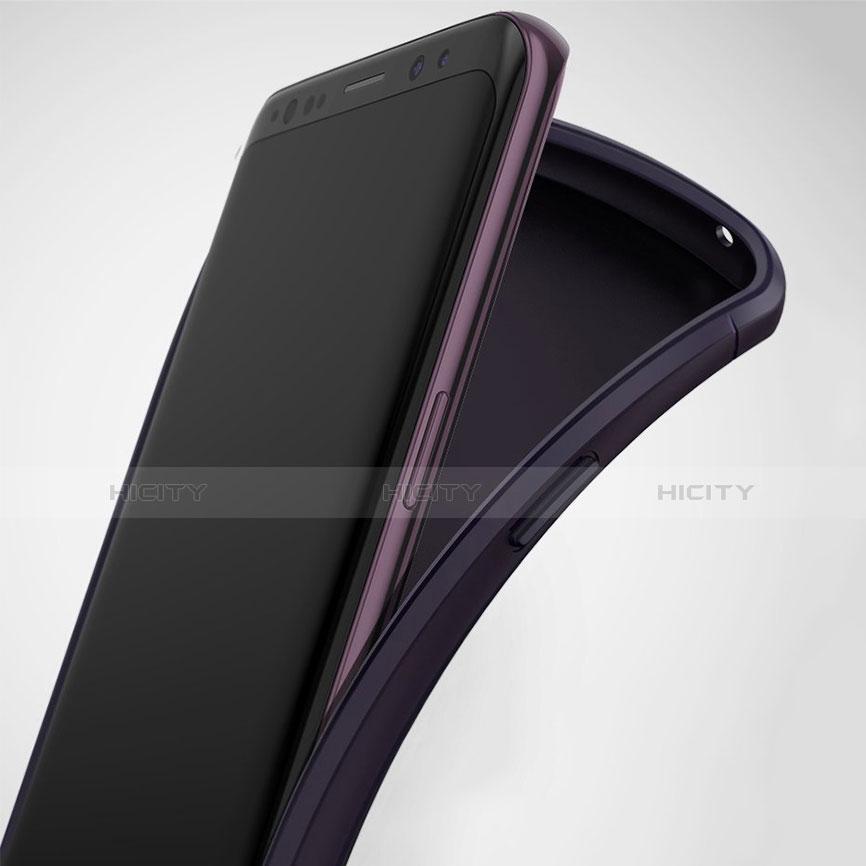 Silikon Hülle Gummi Schutzhülle Matt für Samsung Galaxy S9 Plus Schwarz groß