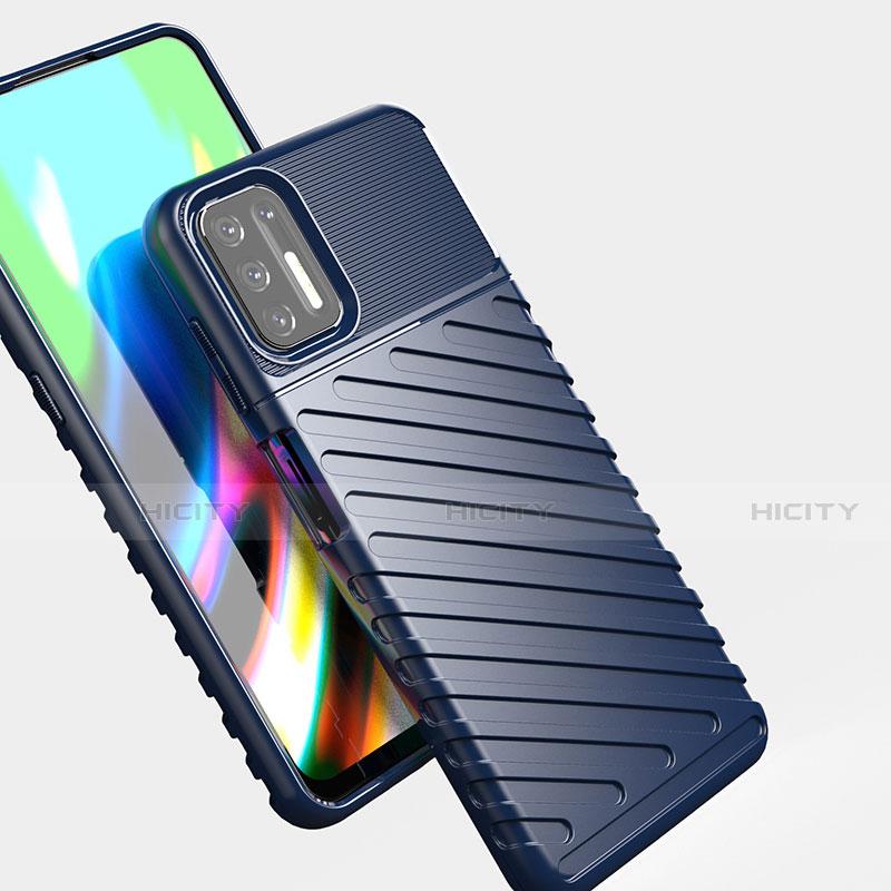 Silikon Hülle Handyhülle Gummi Schutzhülle Flexible Tasche Line für Motorola Moto G9 Plus groß