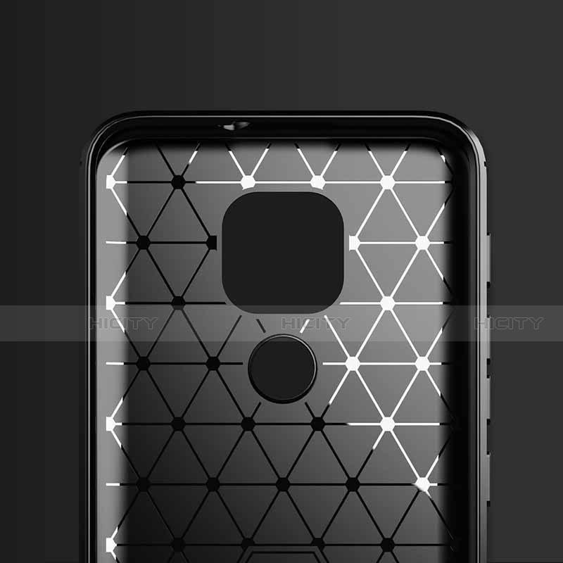 Silikon Hülle Handyhülle Gummi Schutzhülle Flexible Tasche Line S01 für Motorola Moto G9 Play groß