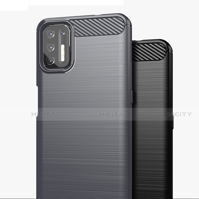 Silikon Hülle Handyhülle Gummi Schutzhülle Flexible Tasche Line S01 für Motorola Moto G9 Plus groß