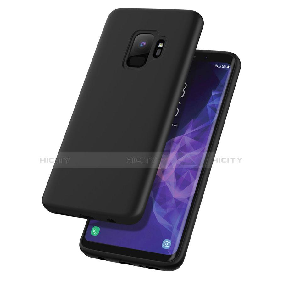 Silikon Hülle Handyhülle Gummi Schutzhülle für Samsung Galaxy S9 Schwarz Plus