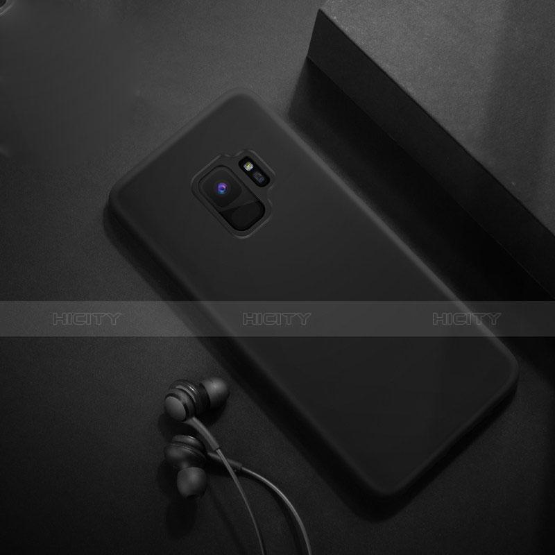 Silikon Hülle Handyhülle Gummi Schutzhülle für Samsung Galaxy S9 Schwarz groß