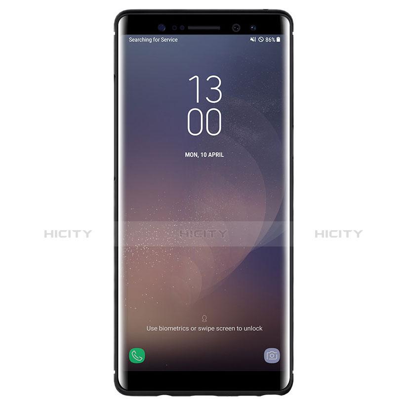 Silikon Hülle Handyhülle Gummi Schutzhülle Köper B02 für Samsung Galaxy Note 8 Duos N950F Schwarz