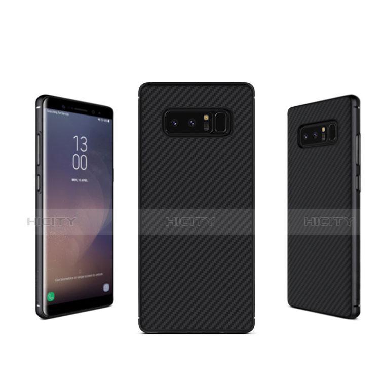 Silikon Hülle Handyhülle Gummi Schutzhülle Köper B02 für Samsung Galaxy Note 8 Schwarz Plus