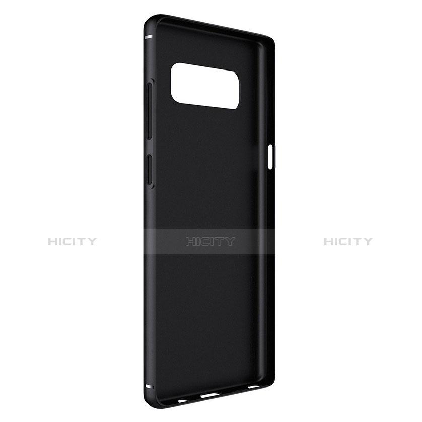 Silikon Hülle Handyhülle Gummi Schutzhülle Köper B02 für Samsung Galaxy Note 8 Schwarz groß