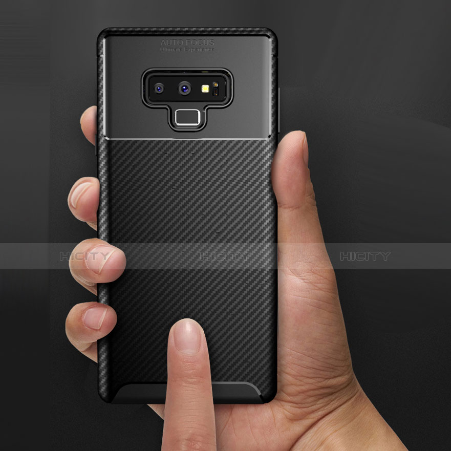 Silikon Hülle Handyhülle Gummi Schutzhülle Köper B02 für Samsung Galaxy Note 9 Schwarz Plus