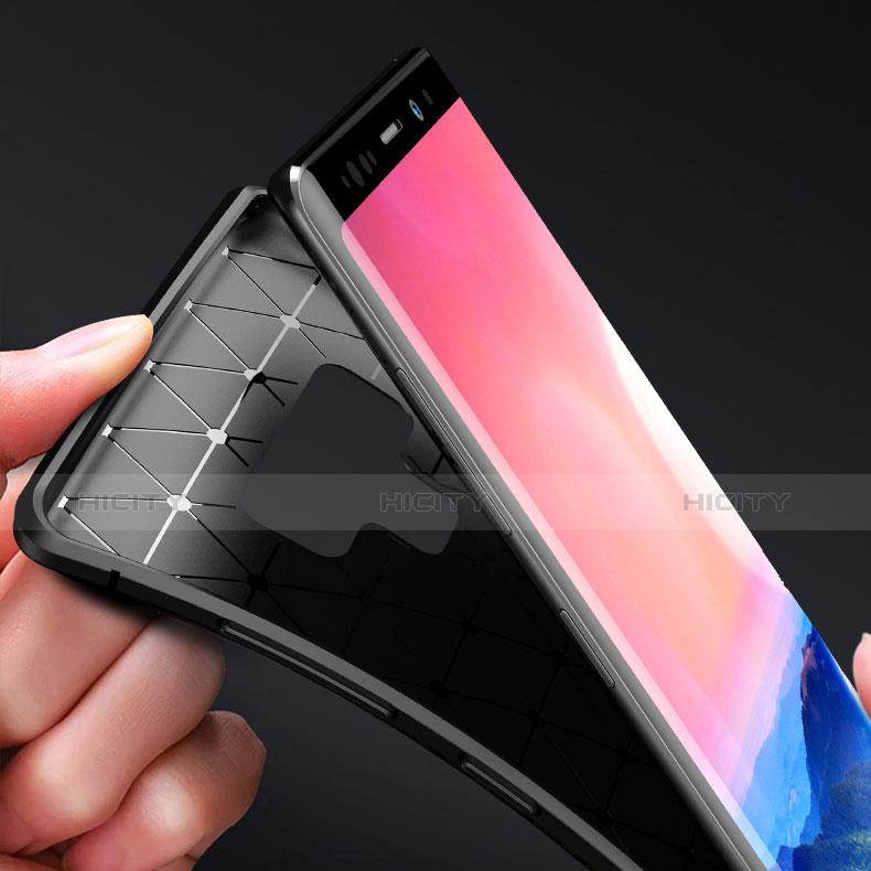 Silikon Hülle Handyhülle Gummi Schutzhülle Köper B02 für Samsung Galaxy Note 9 Schwarz groß