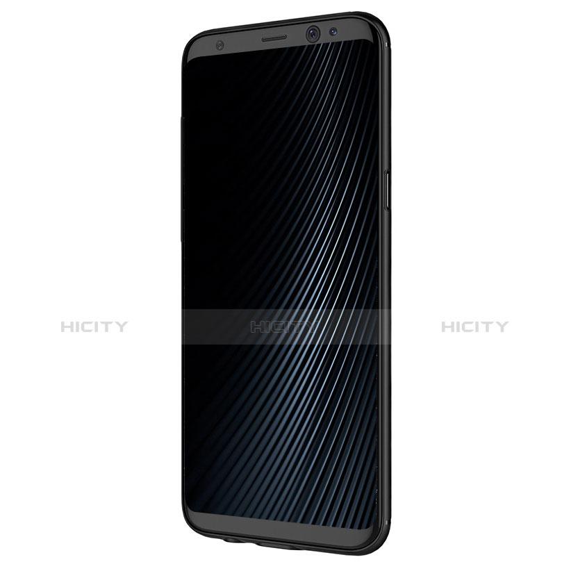Silikon Hülle Handyhülle Gummi Schutzhülle Köper B02 für Samsung Galaxy S8 Plus Schwarz groß