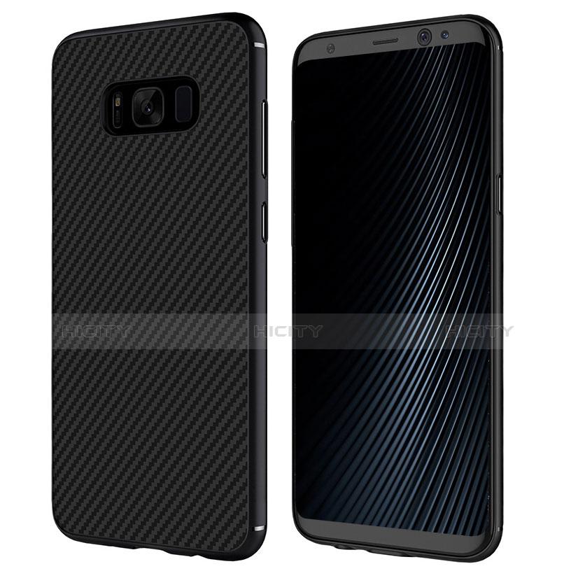 Silikon Hülle Handyhülle Gummi Schutzhülle Köper B02 für Samsung Galaxy S8 Schwarz