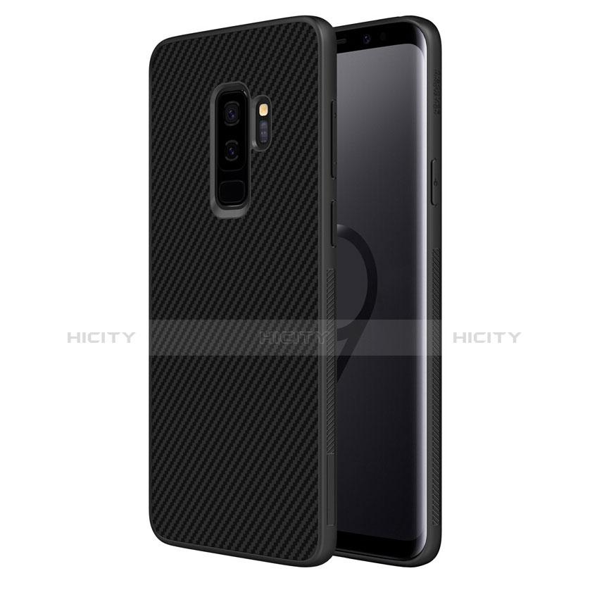 Silikon Hülle Handyhülle Gummi Schutzhülle Köper B02 für Samsung Galaxy S9 Plus Schwarz Plus