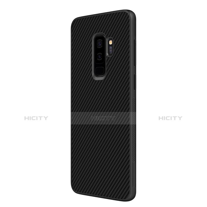 Silikon Hülle Handyhülle Gummi Schutzhülle Köper B02 für Samsung Galaxy S9 Plus Schwarz groß