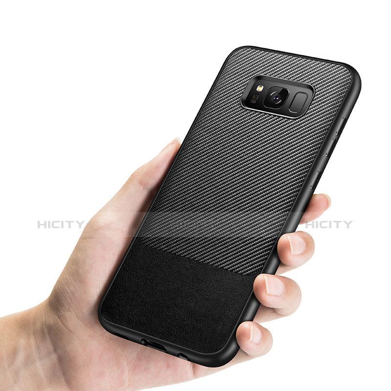 Silikon Hülle Handyhülle Gummi Schutzhülle Köper B03 für Samsung Galaxy S8 Schwarz Plus
