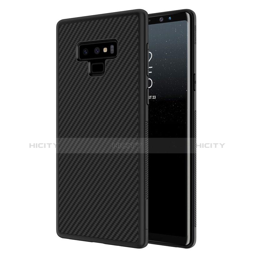Silikon Hülle Handyhülle Gummi Schutzhülle Köper für Samsung Galaxy Note 9 Schwarz Plus