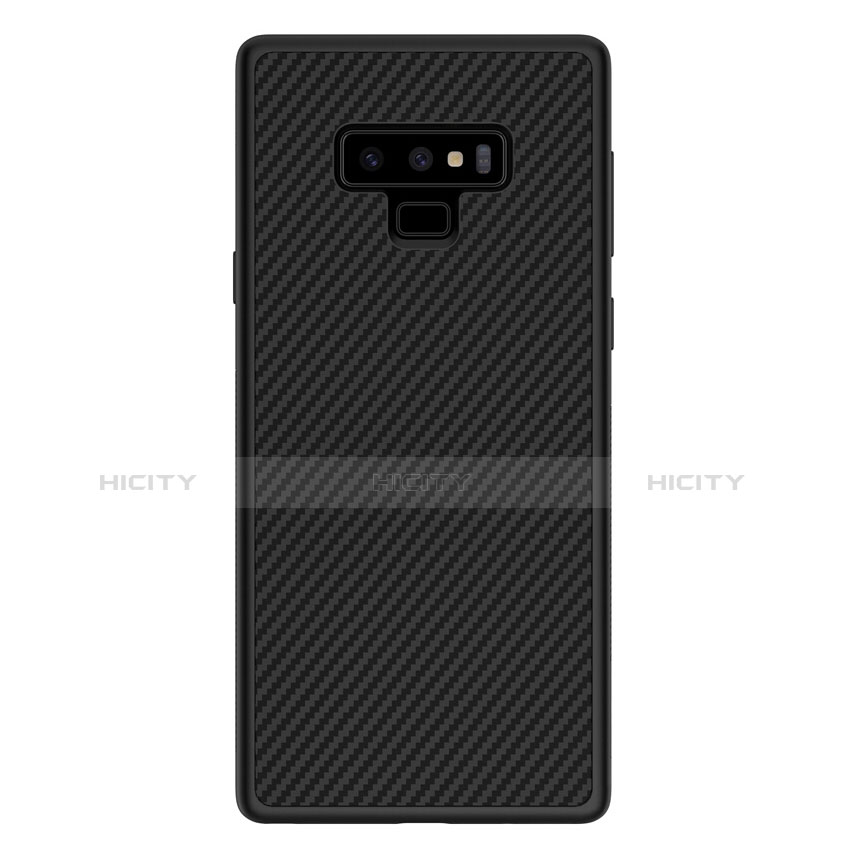 Silikon Hülle Handyhülle Gummi Schutzhülle Köper für Samsung Galaxy Note 9 Schwarz groß
