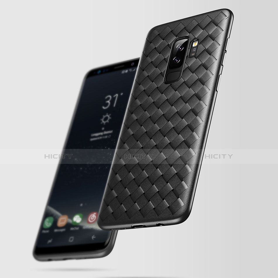 Silikon Hülle Handyhülle Gummi Schutzhülle Köper für Samsung Galaxy S9 Plus Schwarz Plus