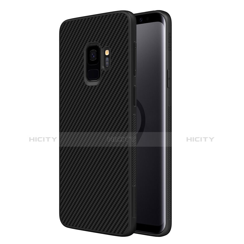 Silikon Hülle Handyhülle Gummi Schutzhülle Köper für Samsung Galaxy S9 Schwarz Plus